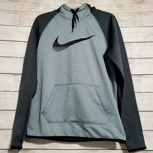 NIKE Out All Time Therma Fit Hoodie M Gray